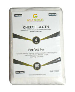 Cheesecloth 100% Cotton Fabric 36 Sq Feet Reusable For Straining CookingBaking