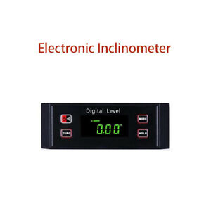 Electronic Inclinometer Digital Protractor Level Angle Finder Gauge Leve Tools $32.96