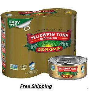 Genova Yellowfin Tuna in Olive Oil 5 ounce can Pack of 8 5 Ounce Free Shiping