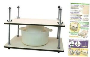 Сheese Making Kit2 in Metal Guides Cheese Press Cheese Making mold.2 L 1
