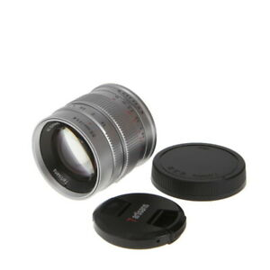 7artisans 55mm f 1.4 Manual Lens for Sony APS C E Mount Silver {49} NW $136.85