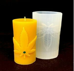 Candles Molds silicone for DIY candles Marijuana leaf