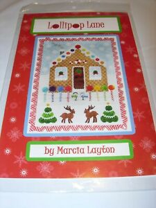 LOLLIPOP LANE GINGERBREAD HOUSE CRAFTS SEWING WALL HANGING Quilt Pattern 21X29 $11.99