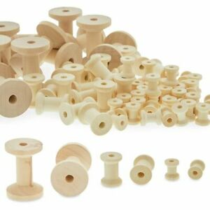 Unfinished Wooden Thread Spools for Crafts and Sewing 3 Sizes 140 Pieces $18.99
