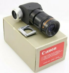 Canon Angle Finder B with Adapter S for A 1AE 1 F 1 T90 etc. Mint GBP 39.99