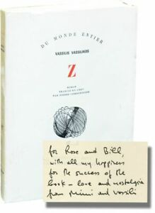 Vassilis Vassilikos Z First French Edition inscribed to William Signed #133505 $650.00