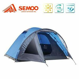 3 Person Camping Tents 4 Season Double Layers Lightweight Family Blue 3 Person