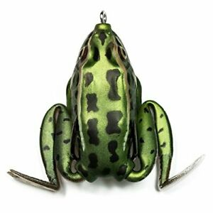 Lunker Frog – Freshwater Fishing Lure with Realistic Design Weighs Green Tea