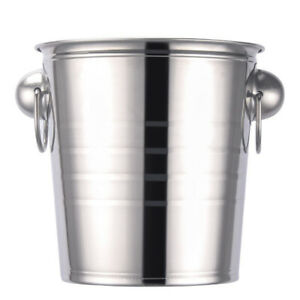 1pc Stainless Steel Durable Wine Ice Bucket Ice Holder for Party Home
