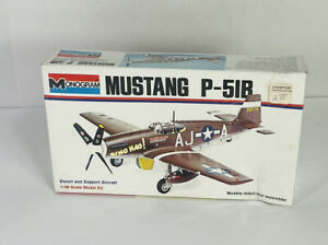 New 1973 Monogram Mustang P 51B 1 48 Scale Colored Plastic Military Kit 6806 $37.50