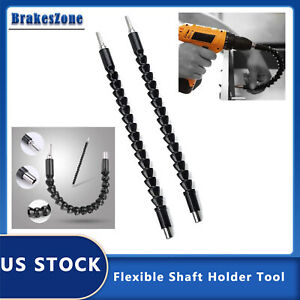 2x Flexible Shaft Extension Bits Right Angle Drill Adapter Screwdriver Hold 1 4quot; $2.99