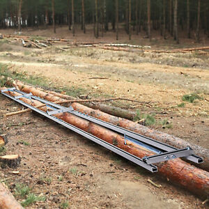 VEVOR Rail Mill Guide System 9FT 3 Crossbar Milling Kits Work With Chainsaw Mill