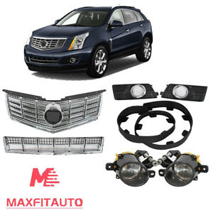 Fits Cadillac SRX 2013 2016 Front Grille Fog Lights and Bezels Lower Deflector $329.00