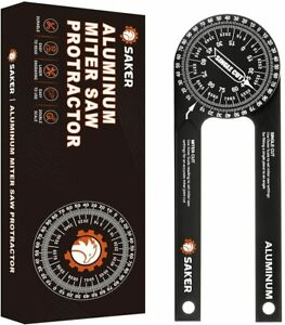 Saker Miter Saw Protractor 7 Inch Aluminum Protractor Angle Finder Featuring $36.50