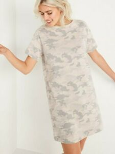 Old Navy Loose Vintage Camo T Shirt Dress Camo New size small