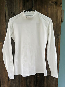 Under Armour Cold Gear Womens XL White Long Sleeve Mock Neck Shirt $19.99