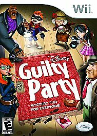 Disney Guilty Party Nintendo Wii 2010 DISC ONLY FAST FREE SHIPPING $7.98