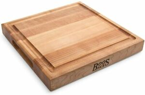 Block CB1052 1M1212175 Maple Wood Square Cutting Board with Juice Groove $57.95