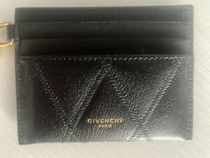 Givenchy Quilted Charm Cardholder Women's Goat Skin One Size Black $300.00