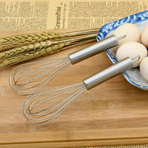 2pcs set 8 Stainless Steel Balloon Wire Hand Whisk Whip Egg Milk Mixer Tool