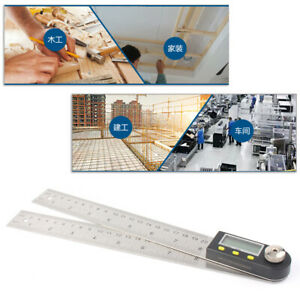 0 200MM 11quot; Electronic Digital Protractor Goniometer Angle Finder Miter Gauge $24.30