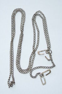 WWII Original US Military J Hook STERLING Dog Tag Chain $58.99