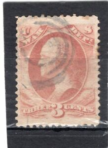 U.S SCOTT # O85 VERY NICE USED 3c WAR DEPT OFFICIAL STAMP FROM 1873. SAT. $2.59