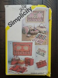 Vtg Marjorie Puckett for Simplicity String Quilted Sewing Access amp; Wall Hanging $7.99