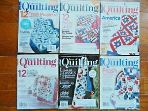 Fons and Porter#x27;s Love of Quilting Magazine 2017 2018 VGC LOT of 6 $6.95