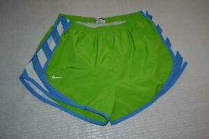 24829 a Womens Nike Running Shorts Lined Size Medium Green Polyester $21.99