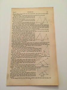 K71 Equiangular Triangle Right Line 295 Architecture History 1842 Engraving $9.95