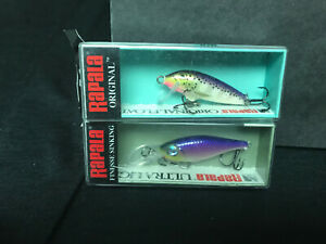 2 New in box quot; RAPALA Lures quot; ULS 4 Sinker amp; F 3 Floater fishing lure