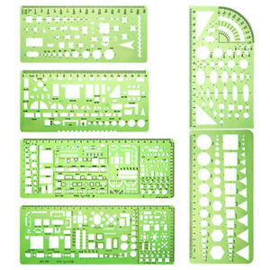 Portable Drafting Tool House Plan Architectural Template Furniture Drawing Ruler $15.62