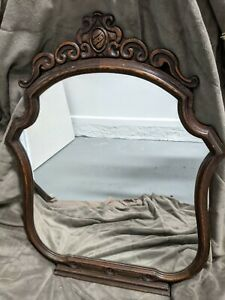 Antique Wood Mirror for vanity or hang on wall. Early 1900s $35.00