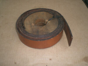 Graton amp; Knight 2quot; wide leather machine lathe belt material 10 ft $45.00