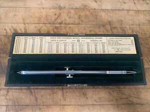 Bowen amp; Co 310 R Proportional Divider W Case USA Made Engineering Drafting Tool $39.95