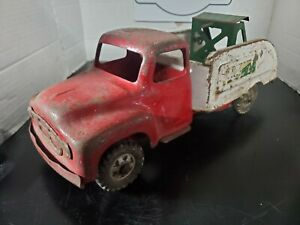 VINTAGE 1950#x27;s BUDDY L METAL REPAIR IT SERVICE TOW TRUCK MADE IN THE U.S.A. $69.69