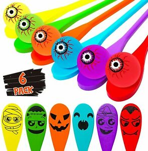 Halloween Egg and Spoon Game Set for 6 Players Kids and Adults Indoor Outdoor Ha