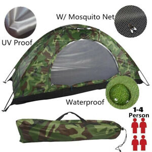 2 4 Person Portable Outdoor Camping Tents Waterproof Folding Tent Beach Hiking