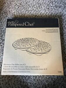 Pampered Chef Black Silicone Microwave Potato Chip Maker #1241. IOB