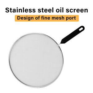 Grease Guard with Handle Home For Frying Pan Fine Mesh Pot Cover Splatter Screen