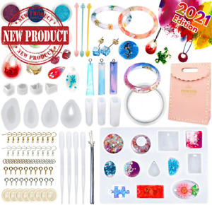Resin Earring Molds Silicone for Beginners DIY Handmade Crafts Tools Set