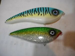 2 Gordon Griffith? Musky Lures Glide Baits nice used condition LOT4
