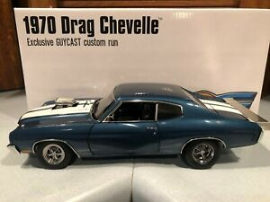 ACME Guycast Exclusive 1970 Drag Chevelle Blue 1 18 1 of 222