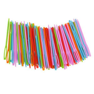 200Pcs Wool Plastic Hand Sewing Needles Large Eye Embroidery Tapestry Craft $11.56