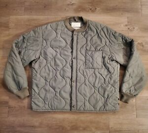 Vintage Military Flyers Liner CWU 9 P Green Quilted Jacket Men#x27;s Size XLarge $69.99