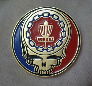 New Disc Golf Pin Ace Your Chains Gold. 2quot;. Die Struck Iron Soft Enamel