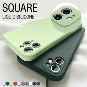 Liquid Silicone Case For iPhone 13 12 Pro Max 11 XS XR 8 7 SE Camera Lens Cover $6.29