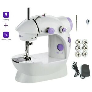 Sewing Machine Portable Electric Crafting Mending Machine LED 2 Speed US plug $20.65