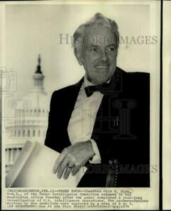1976 Press Photo Chairman Otis Pike of the House Intelligence Committee